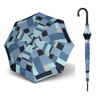 Doppler Fiber Long Automatic Mosaic Umbrella Blue