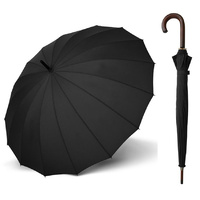 Doppler London Wood Umbrella Black
